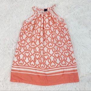 Gap stripe heart print halter neck Summer dress